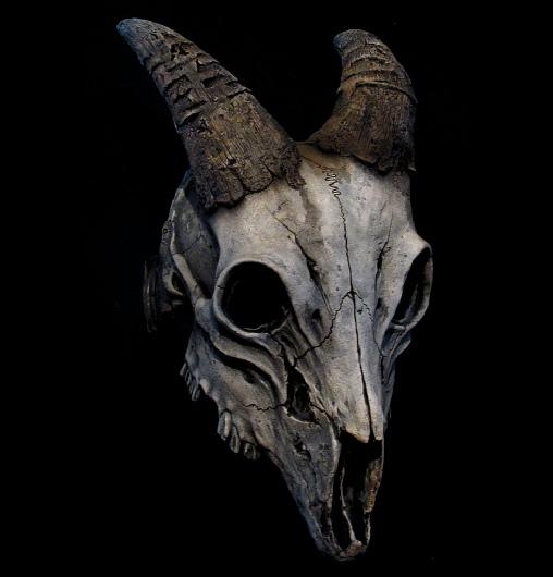 Ram Skull Mask goat sk...